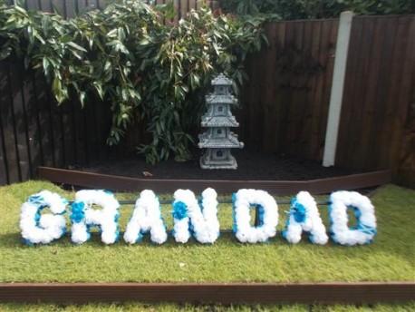 Grandad artificial letters