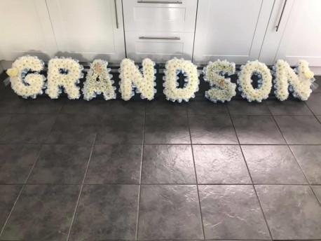 Grandson lettering