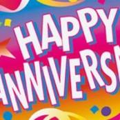 Anniversary helium balloon