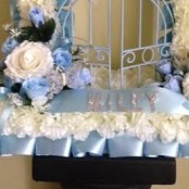 Blue artificial flower gates of heaven