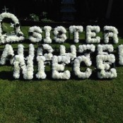ARTIFICIAL FLOWER LETTERING